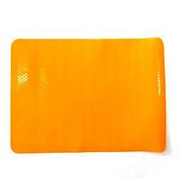 Силиконовый коврик для выпечки 37x27 см. (антипригарный) - оранжевый