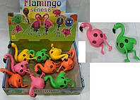 Антистресс игрушка  фламинго ,9см,тянется,в кул,12шт(6видов) в дисплее,27-20,5-7с