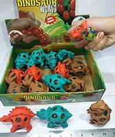 Антистресс игрушка  динозавр,9см,тянется,в кул,12шт  в дисплее,27-20,5-7с