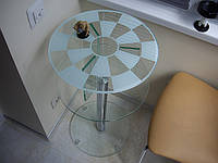 Круглый журнальный столик арт.022