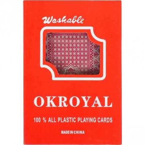 Карты игральные, пластиковые «OKROYAL 1 колода, фото 2