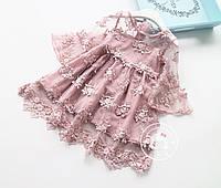 Платье Нежность (розовое) 105,125, фото 1