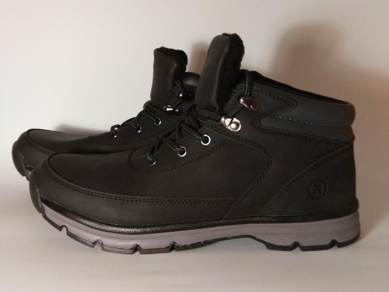 Зимние ботинки  Restime на меху 41-46  размеры, ботинки из нуббука, крепкие зимние ботинки, зимние кроссовки,