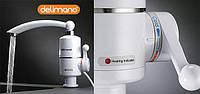 Мгновенный проточный водонагреватель Delimano с TV, бойлер, кран смеситель Делимано