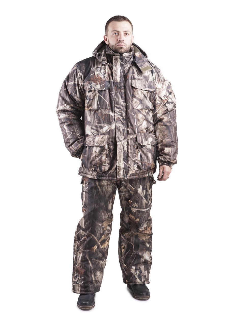 Зимний костюм для охоты и рыбалки Лес, непродуваемый, тёплый и надежный, все размеры 60-62