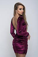 Женское платье из бархата с открытой спиной, фото 1