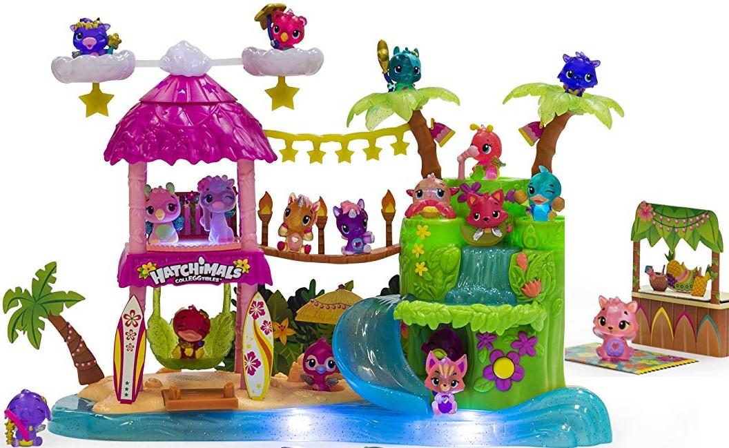 Набор Остров Хетчималс Тропическая вечеринка, свет-звук Hatchimals CollEGGtibles Tropical Party из США