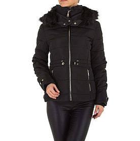 Куртка женская на синтепоне с капюшоном Emmash (Европа), Черный