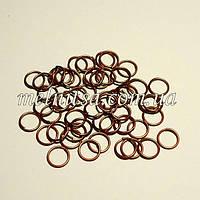 Соединительные бижутерные кольца, 0,7х7мм, 30шт., красная бронза