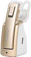 Гарнитура беспроводная Remax RB-T6C BT4.0  bluetooth earphone With Charging Dock Gold, фото 1