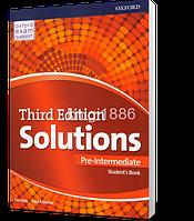 Учебник / Student's Book Solutions Pre-Intermediate, третье издание, Paul A Davies, Tim Falla   Oxford