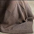Покривало 220x240 BETIRES ASPEN DARK BROWN (50% бавовна, 50% акрил), фото 2