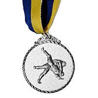 Медаль Спортивная маленькая Единоборства серебро