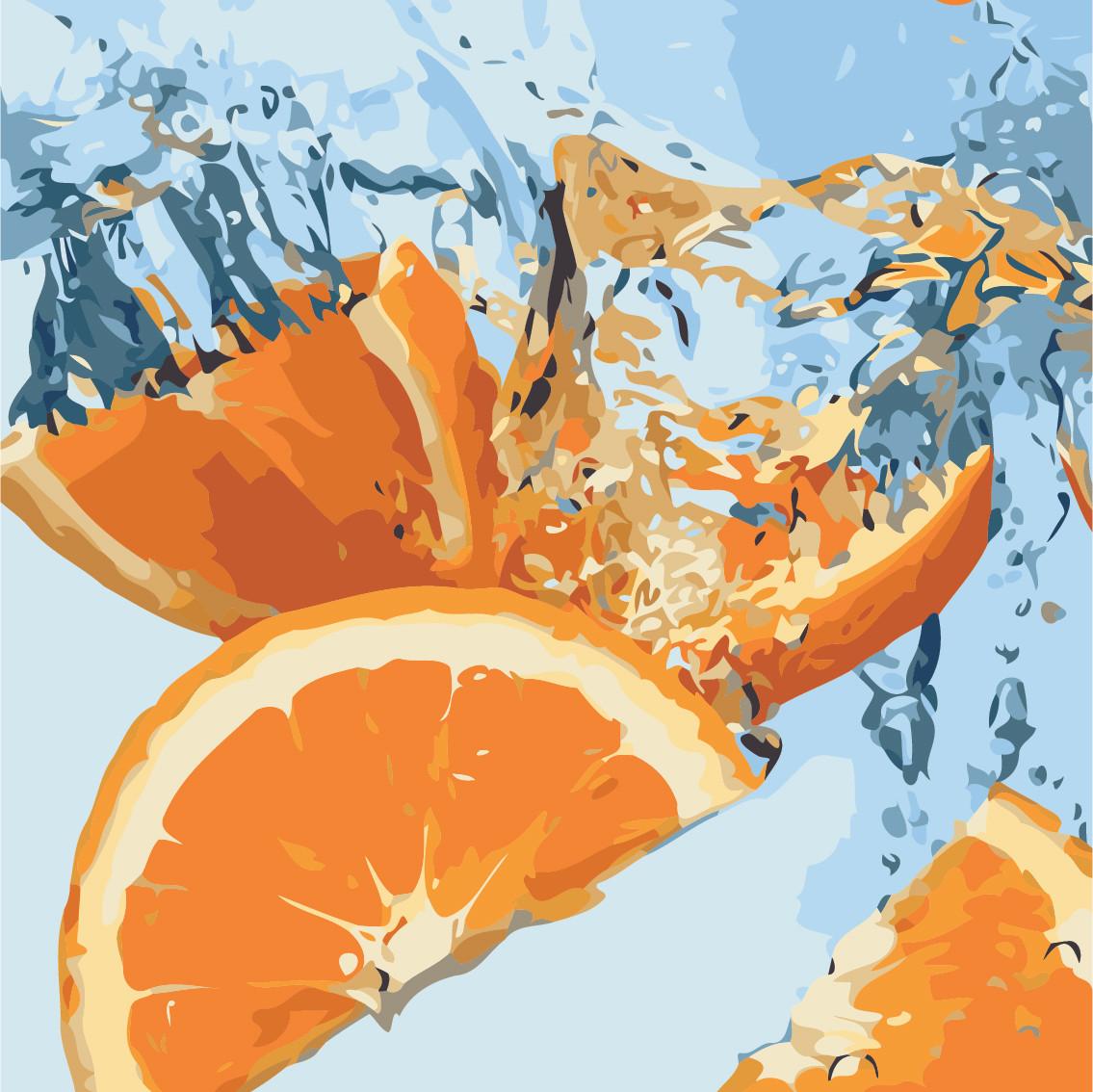 """Картина по номерам """"Сочный апельсин"""" 40*40см"""