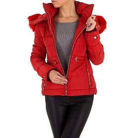 Куртка женская на синтепоне с капюшоном Emmash (Европа), Красный