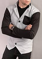 Кардиган мужской серый