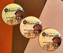 Круглые рекламные магнитики на заказ. Диаметр 68 мм 12