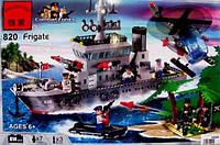 Конструктор BRICK 820 военный корабль, 614 дет