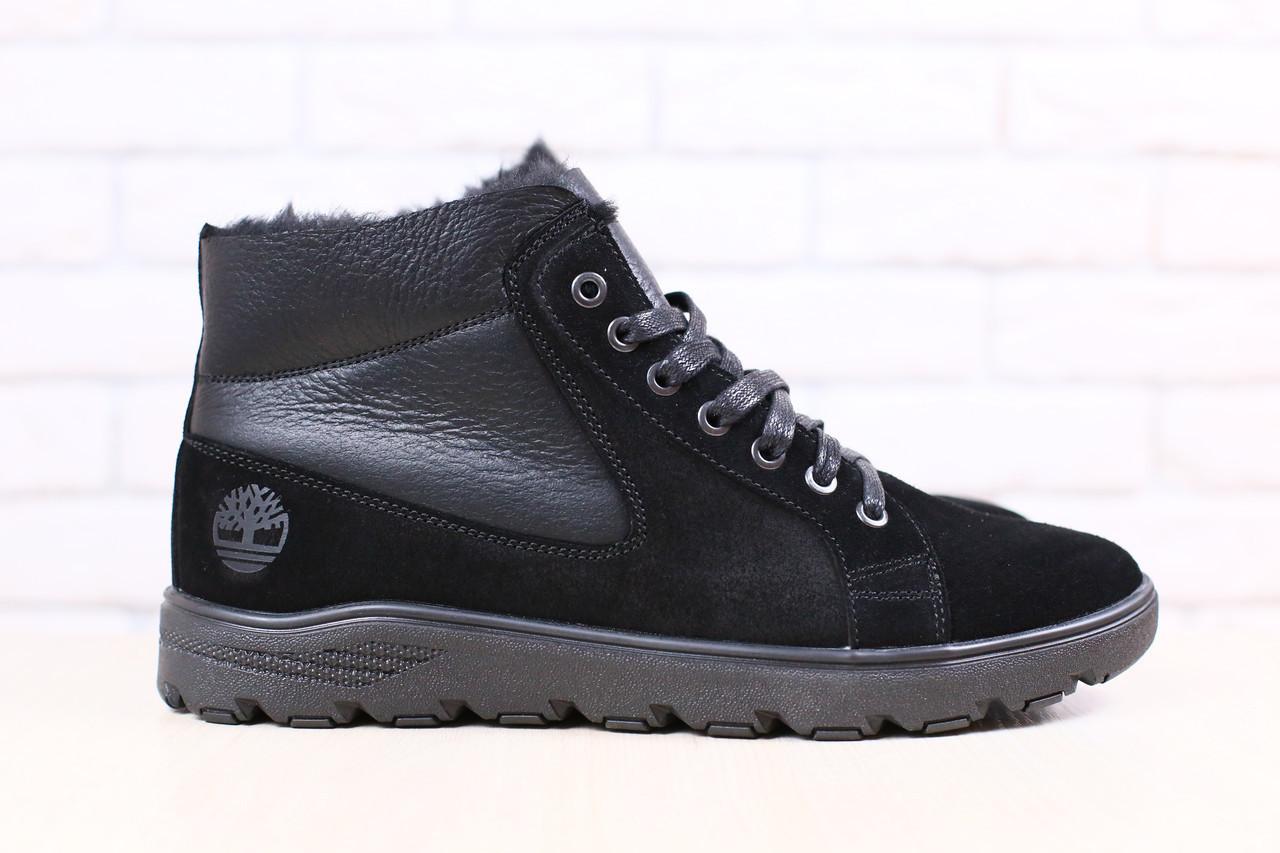 cce135eb7 Мужские зимние, ботинки, комбинированные: натральная кожа и замша, на меху,  на