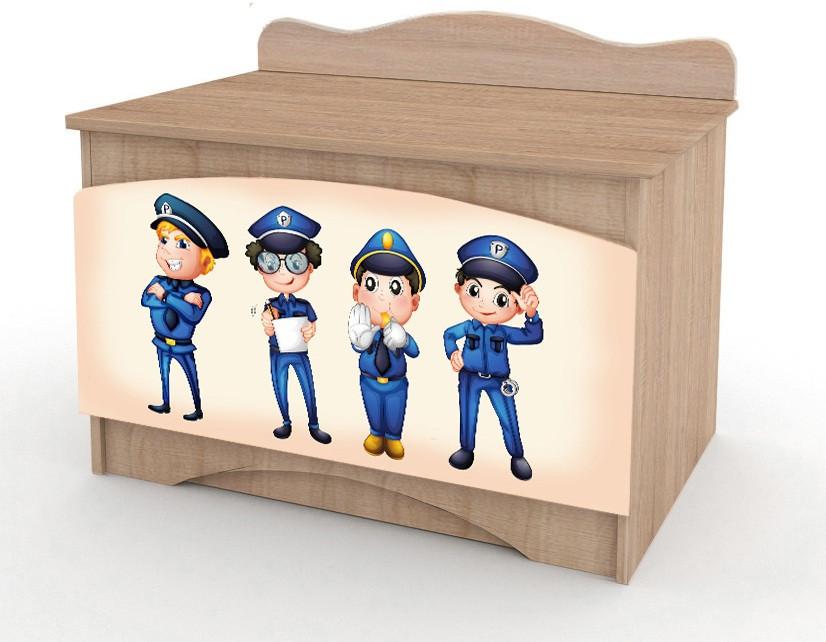 """Ящик для игрушек """"Полиция"""" дуб сонома Вальтер"""