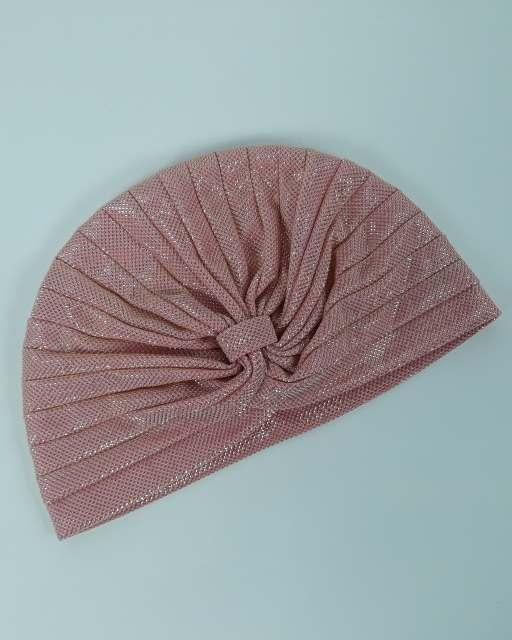 Тюрбан-чалма розовый с блестками