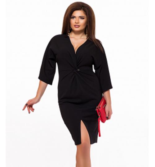 6f5a933028b Черное вечернее платье с V-образным вырезом 825600 купить недорого ...