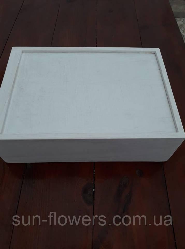 Деревянный декоративный ящик с крышкой