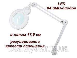Лампа-лупа мод. 9006-D LED -3D -с регулировкой яркости света 5Дптр