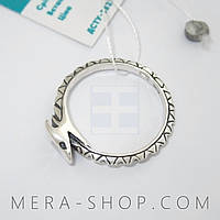 Серебряное кольцо Уроборос (р-18) из серебра 925 пробы
