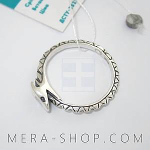 Серебряное кольцо Уроборос из серебра 925 пробы (р-18)