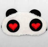 "Маска для сна ""Панда"" с сердцами"