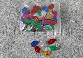 Пайетки овальные метал. 0,8-1,5 см 6-7 гр