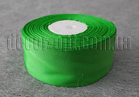 Лента репсовая зеленая 4 см 25 ярд арт.19