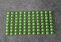 Камешки зеленые  на липучке 8 мм 88 шт