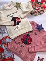 Детский свитер для девочек от 4 до 8 лет.