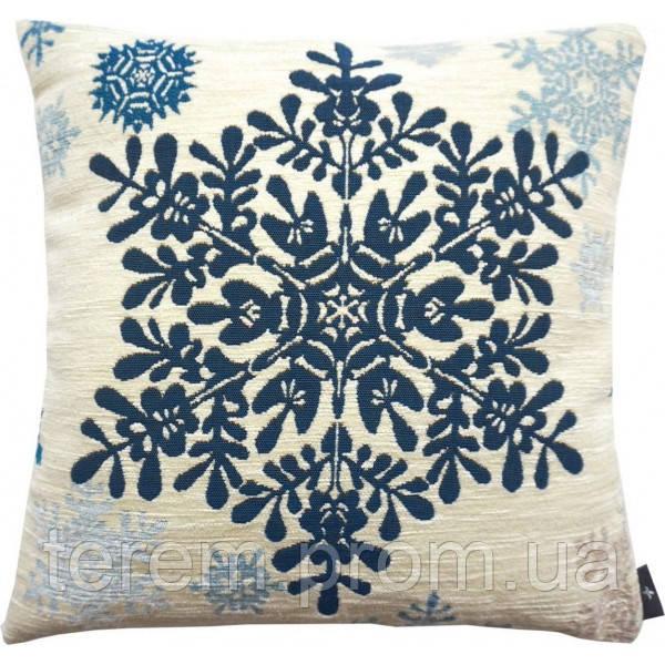 """Подушка """"Большая синяя снежинка"""""""
