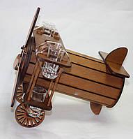 Подарочный мини-бар Самолет, 6 рюмок, Бары для дома,Оригинальный подарок, фото 1