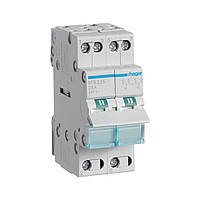 Переключатель I-0-II с общим выходом снизу, 2-пол., 25А/230В, 2м  (ввод резервного питания)