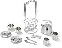 Чайный набор из нержавеющей стали (Stainless Steel Tea Set and Storage Stand) ТМ Melissa & Doug MD4251