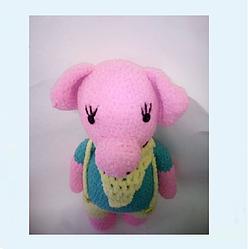 Игрушка вязаная, символ 2019 Свинка