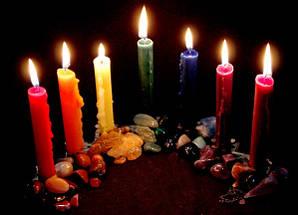 Свеча магическая цельно окрашенная