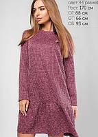Женское платье свободного кроя из ангоры (3105 lp)
