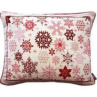 """Подушка """"Красные снежинки"""", фото 1"""