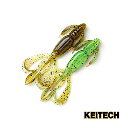 "Силикон Keitech Crazy Flapper 3.6"" (7 шт/упак) ц:401 greenpumpkin"