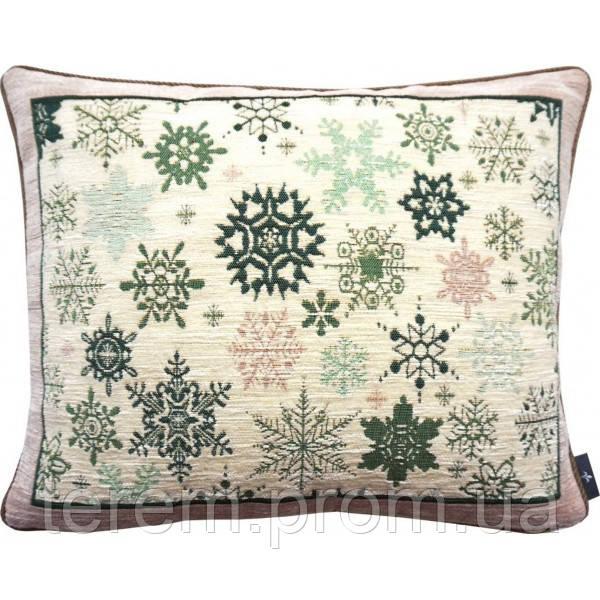Подушка гобеленовая Art de Lys Зеленые снежинки 40x50