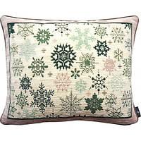 "Подушка ""Зеленые снежинки"", фото 1"