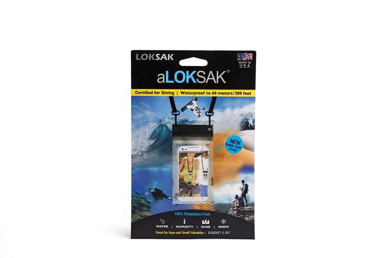 "Пакет водонепроницаемый с лентой на шею Loksak aLOKSAK 3.9х7"""