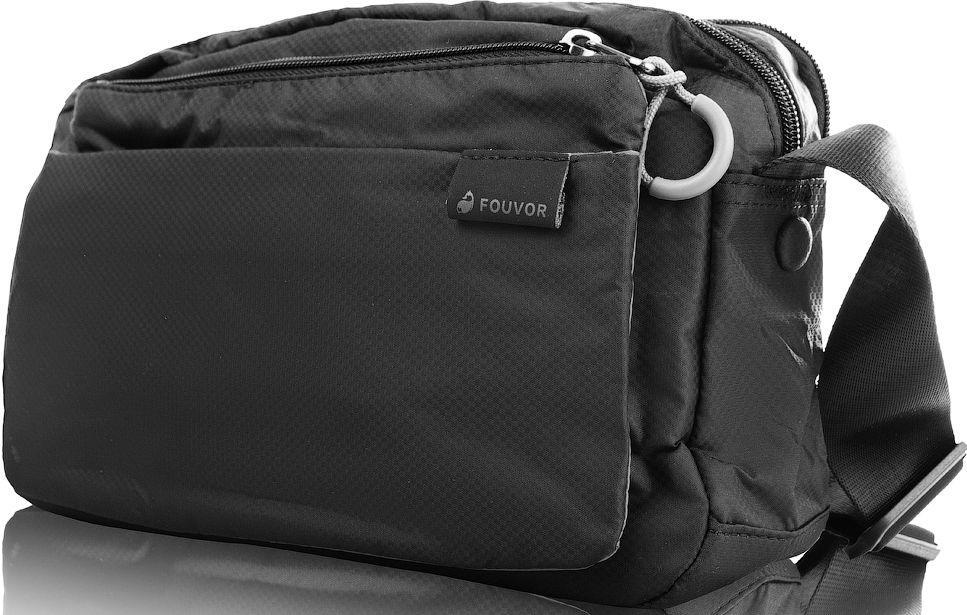 7461042fad54 Мужская тканевая сумка через плечо FOUVOR VT-2802-12, черная ...