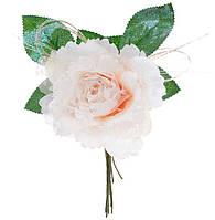 Декоративный искусственый цветок Роза 15см, красивый декор, набор 12 шт