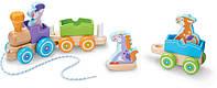 Деревянный поезд с животными (First Play Wooden Rocking Farm Animals Pull Train) ТМ Melissa & Doug MD14608